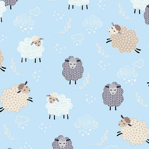 Kanvas Studios - Sweet Dreams - Dreamy Sheep - Sky Blue