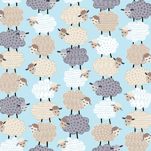 Kanvas Studios - Sweet Dreams - Stacked Sheep - Aqua