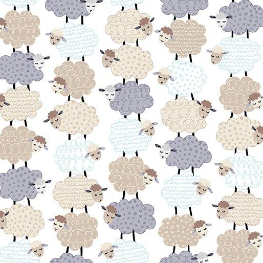 Kanvas Studios - Sweet Dreams - Stacked Sheep - White