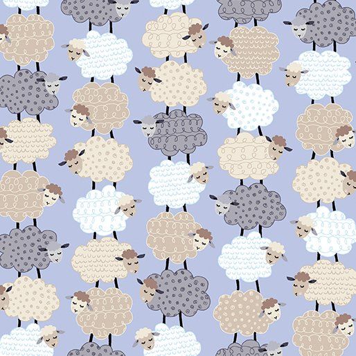 Kanvas Studios - Sweet Dreams - Stacked Sheep - Periwinkle