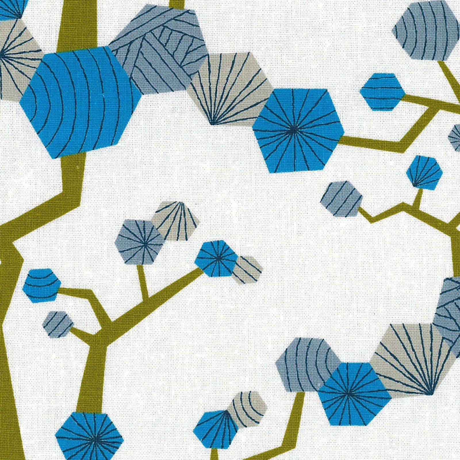 Kokka - Tayutou - Tree - Blue - Cotton/Linen