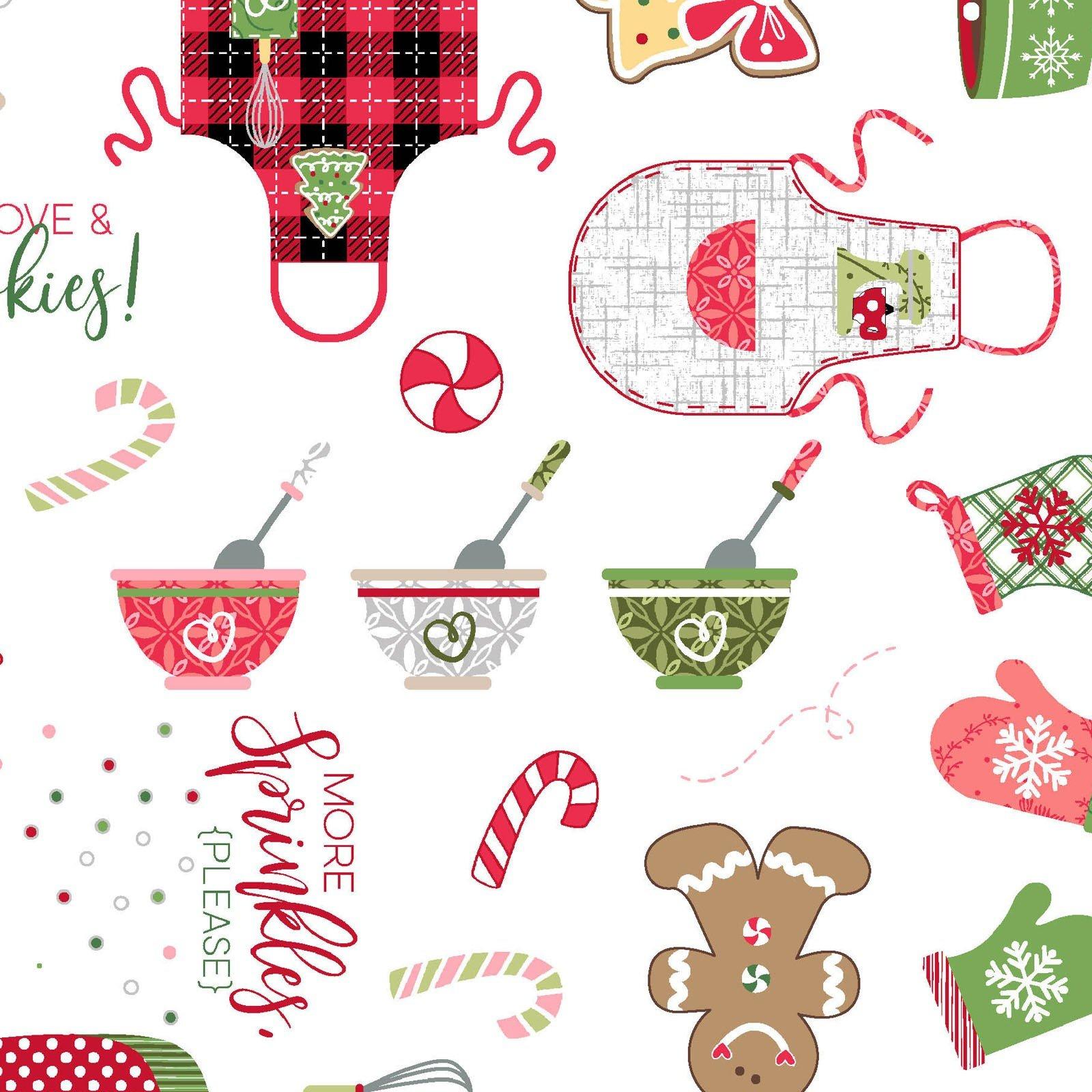 Maywood Studios - We Whisk You A Merry Christmas - Christmas Baking  - White