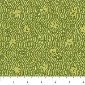 Northcott - Kyoto Gardens - Small Flower Blender - Sage Green