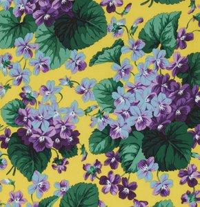 Snow Leopard Botanical-Violets-Yellow