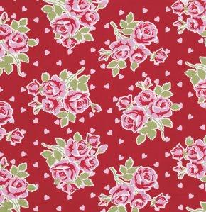 Tanya Whelan - Falling Roses & Hearts - Red