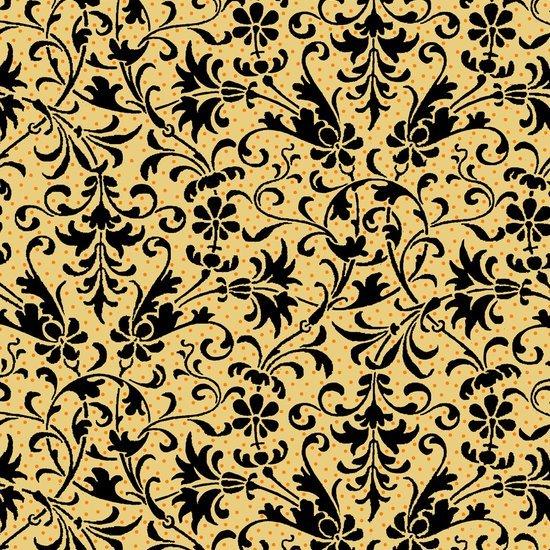 Quilting Treasures-Isabella Filigree-Dark Chamois