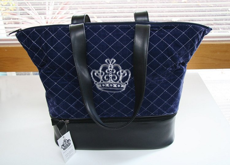 Nicky Epstein Royal Knitting Bag-Blue