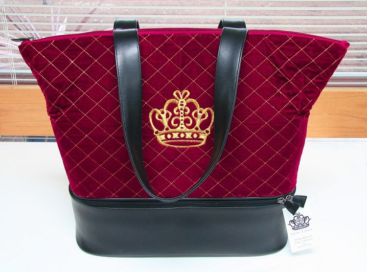 Nicky Epstein Royal Knitting Bag-Red