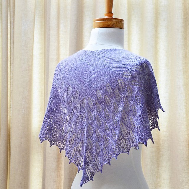 Lilac Leaves Shawl