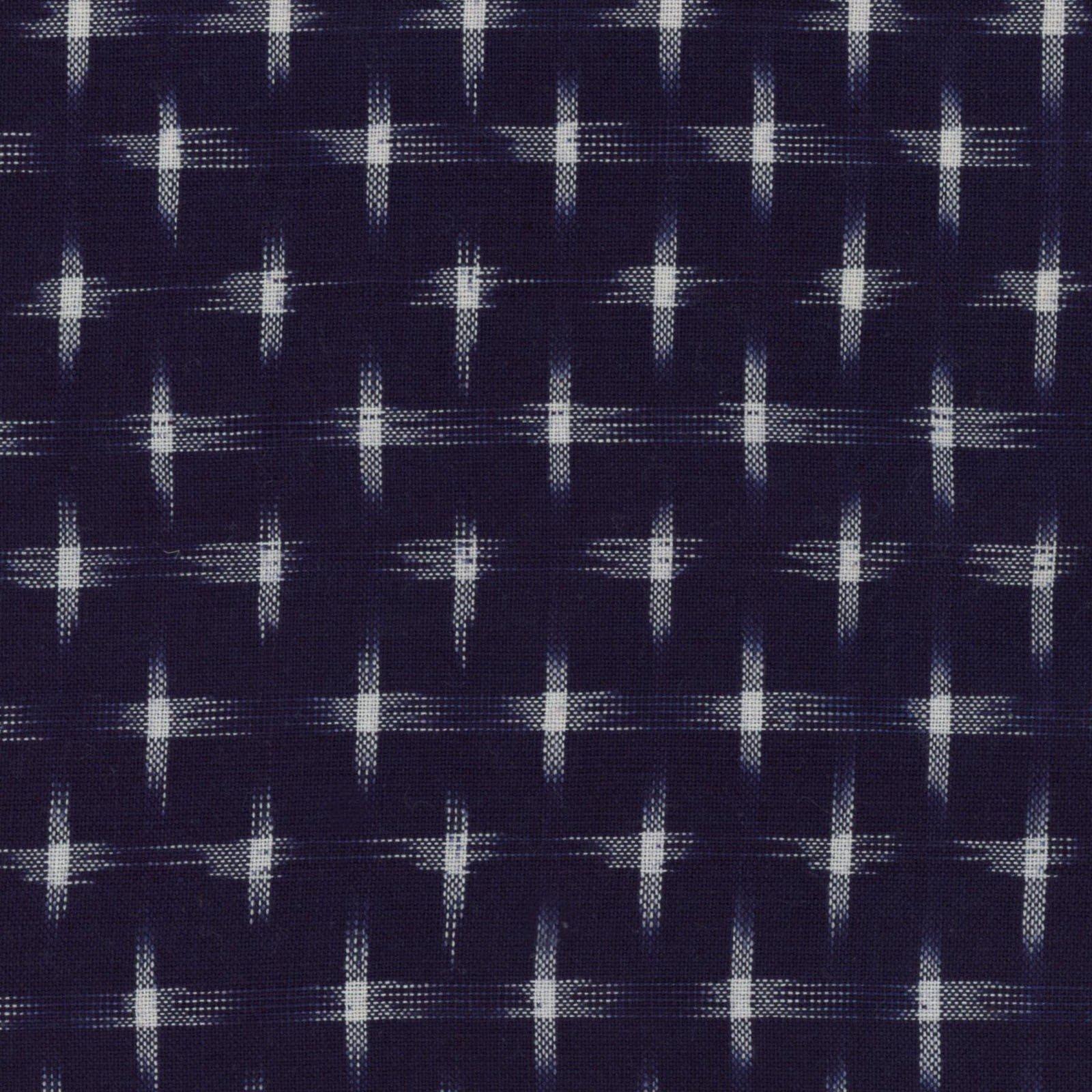 Textile Creations - Dakota - Ikat Star - Navy/Cream
