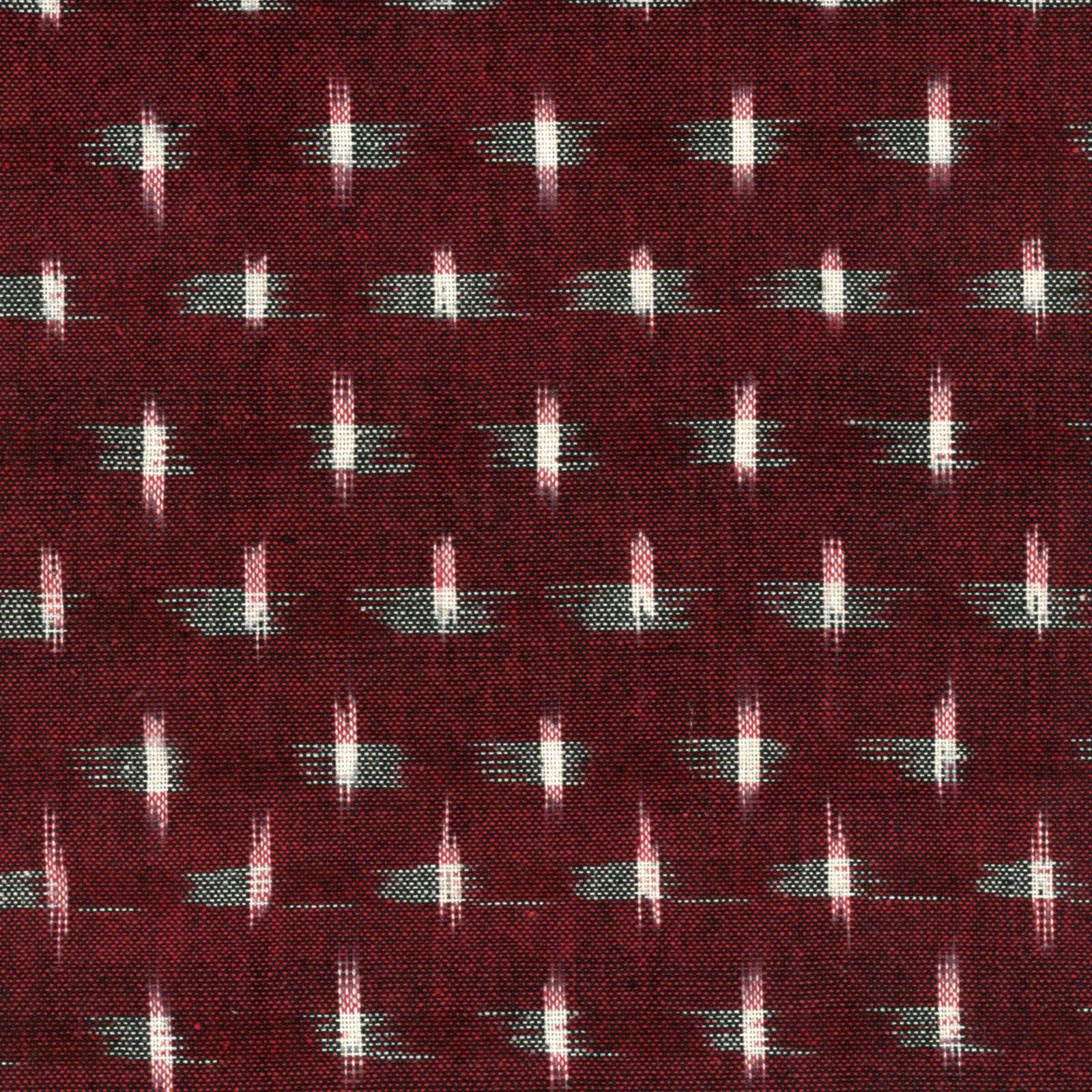 Textile Creations - Dakota - Stars - Wine/Cream