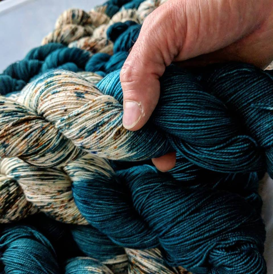 The Fiber Seed Yarn - Sprout Sock - Color of the Month Club - August 2018 - Dirty Seahorse