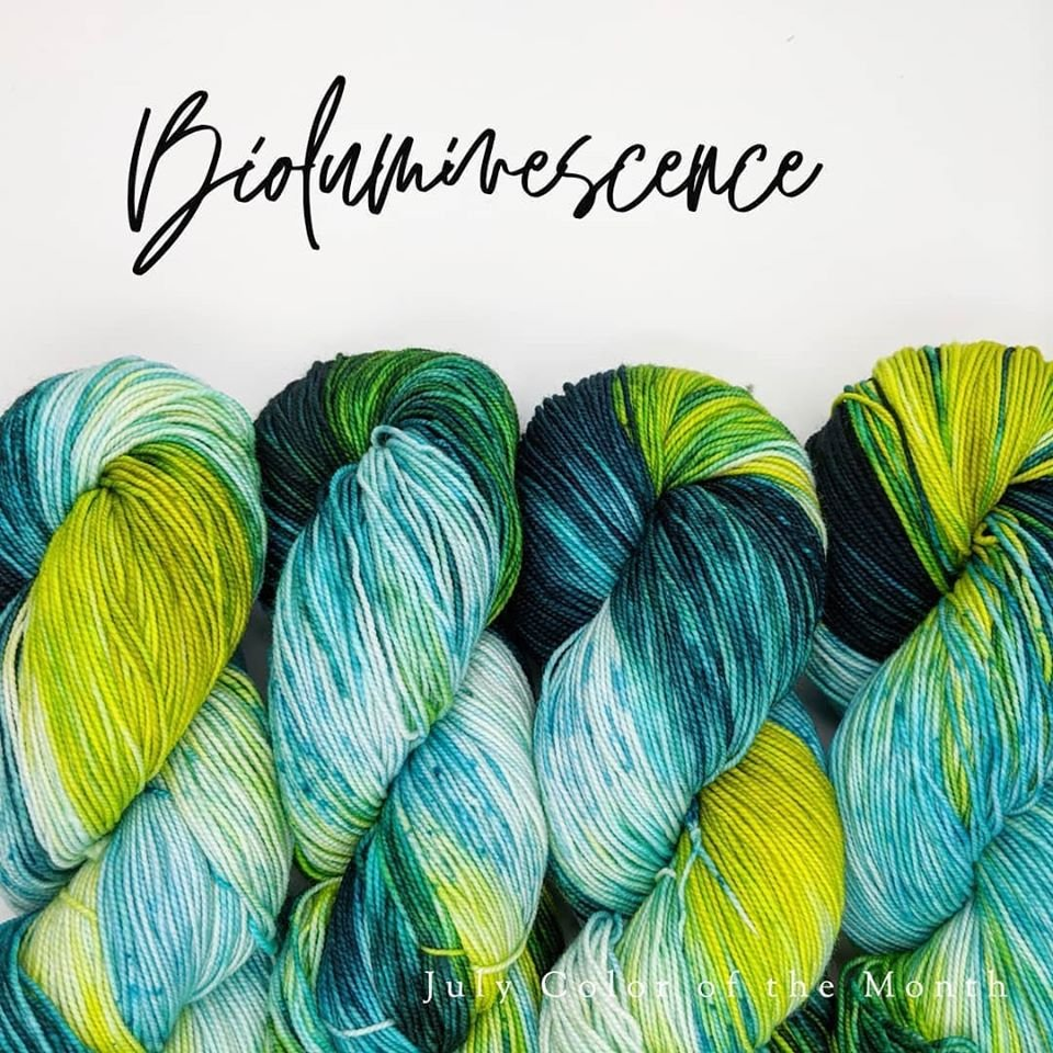 The Fiber Seed Yarn - Sprout Sock - Color of the Month Club - July 2020 -  Bioluminescence