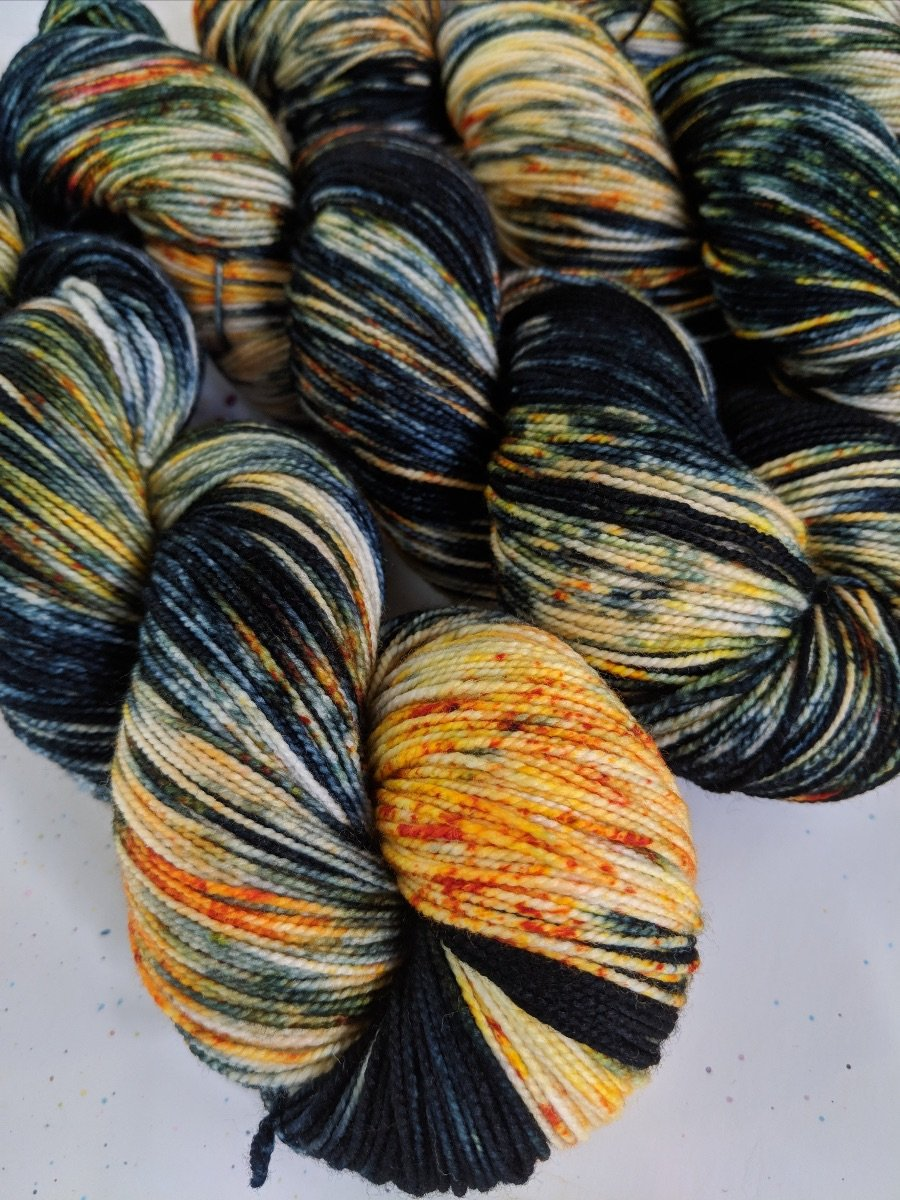The Fiber Seed Yarn - Sprout Sock - Color of the Month Club - October 2018 - Harvest Moon