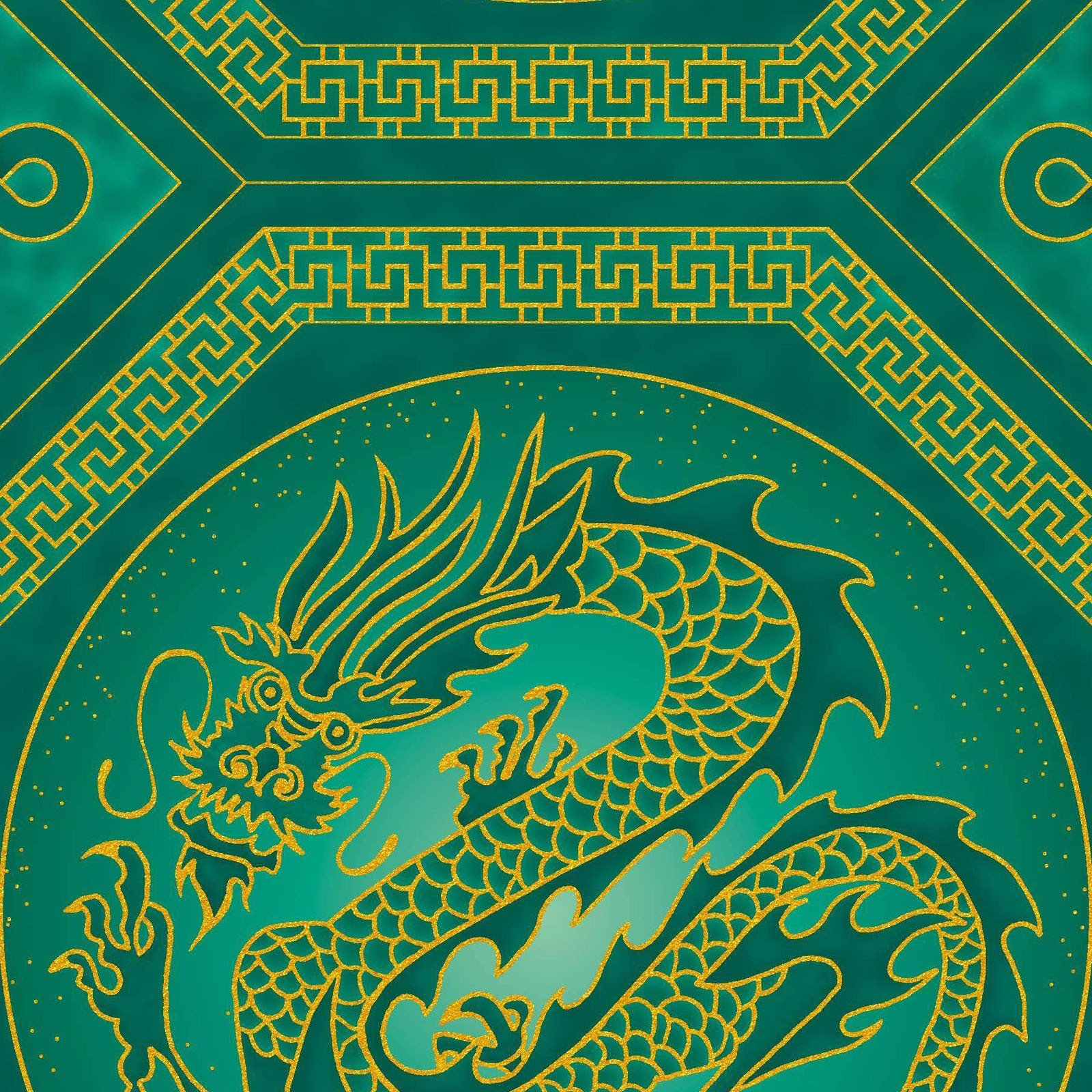 The Textile Pantry - Summer Palace - Dragons - Green
