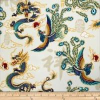 Trans Pacific Textiles - Dragon and the Phoenix - Cream