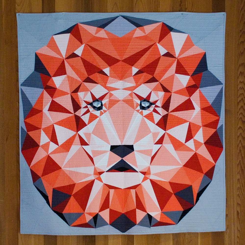 Violet Craft Quilt Patterns - The Jungle Abstractions: The Lion Quilt