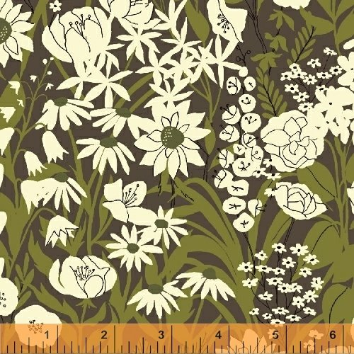 Windham - Mazy - Wildflowers - Grey