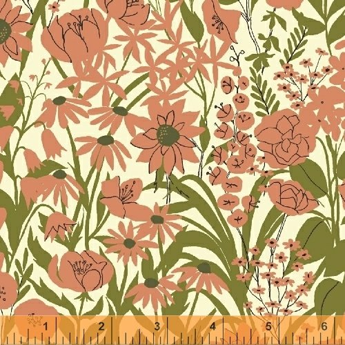 Windham - Mazy - Wildflowers - Coral
