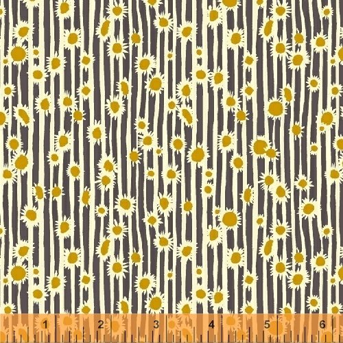 Windham - Mazy - Sunflowers - Grey