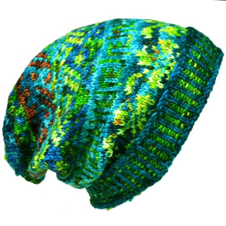 Yarn Rehab - Meadowcroft Slouchy Hat Kit - A Beautiful Pea Green Boat