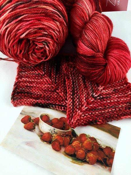 Art Walk Series-Strawberries-Serenity Silk Single