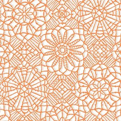 AMAZING LACE 24632-ZO ORANGE WHITE