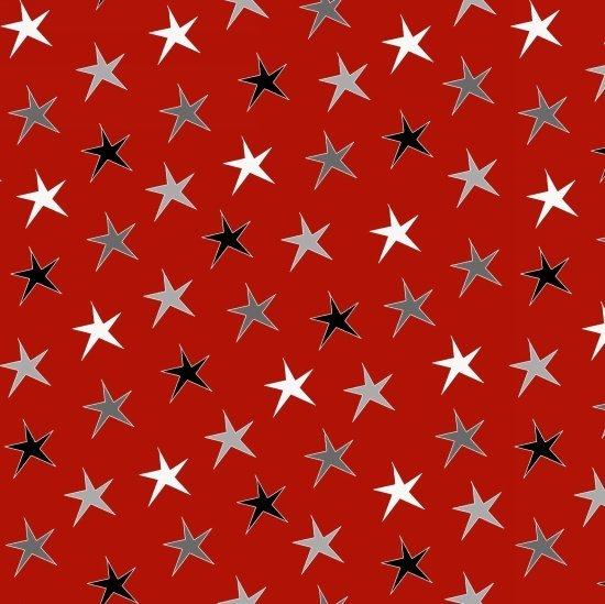 AROUND TOWN CHRISTMAS 3714-88 RED STARS