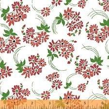 HAZEL 40837-4 RED FLOWER SWIRL