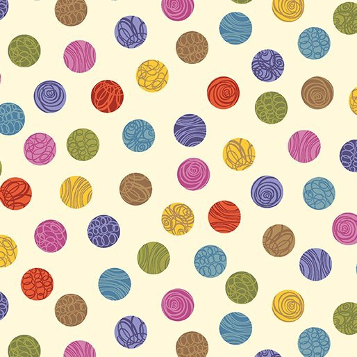 ALL'S WOOL THAT ENDS WOOL 8708-07 DOTS