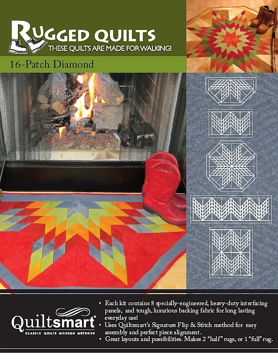 RUGGED QUILTS 16-PATCH DIAMOND PACK - 859028000093