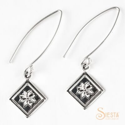 SIESTA STERLING LEMOYNE STAR WIRE EARRINGS