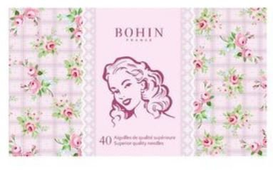 Bohin Pink Marlene Sewing Needle Book