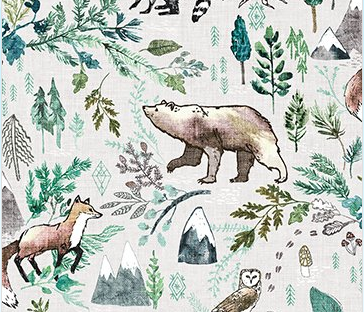 Forest Fable Woodland Taupe Multi