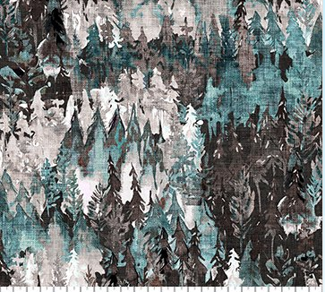 Forest Fable Trees Teal