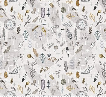 Forest Fable Nature Toss Taupe Multi