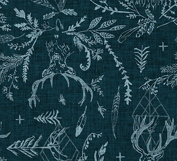 Forest Fable Stags Navy