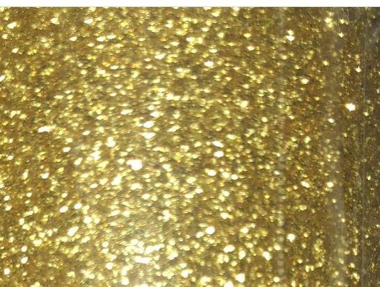 F Gold Iron-On Glitter 18x12
