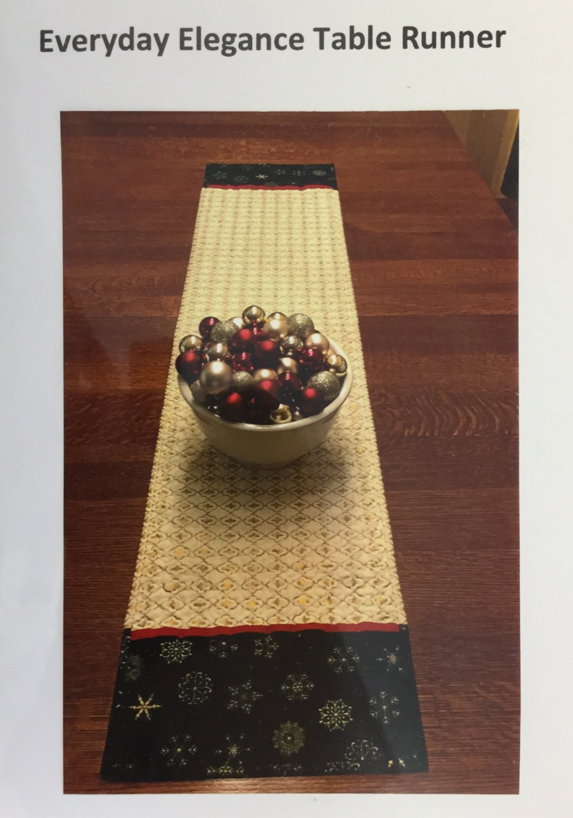 Everyday Elegance Table Runner Pattern