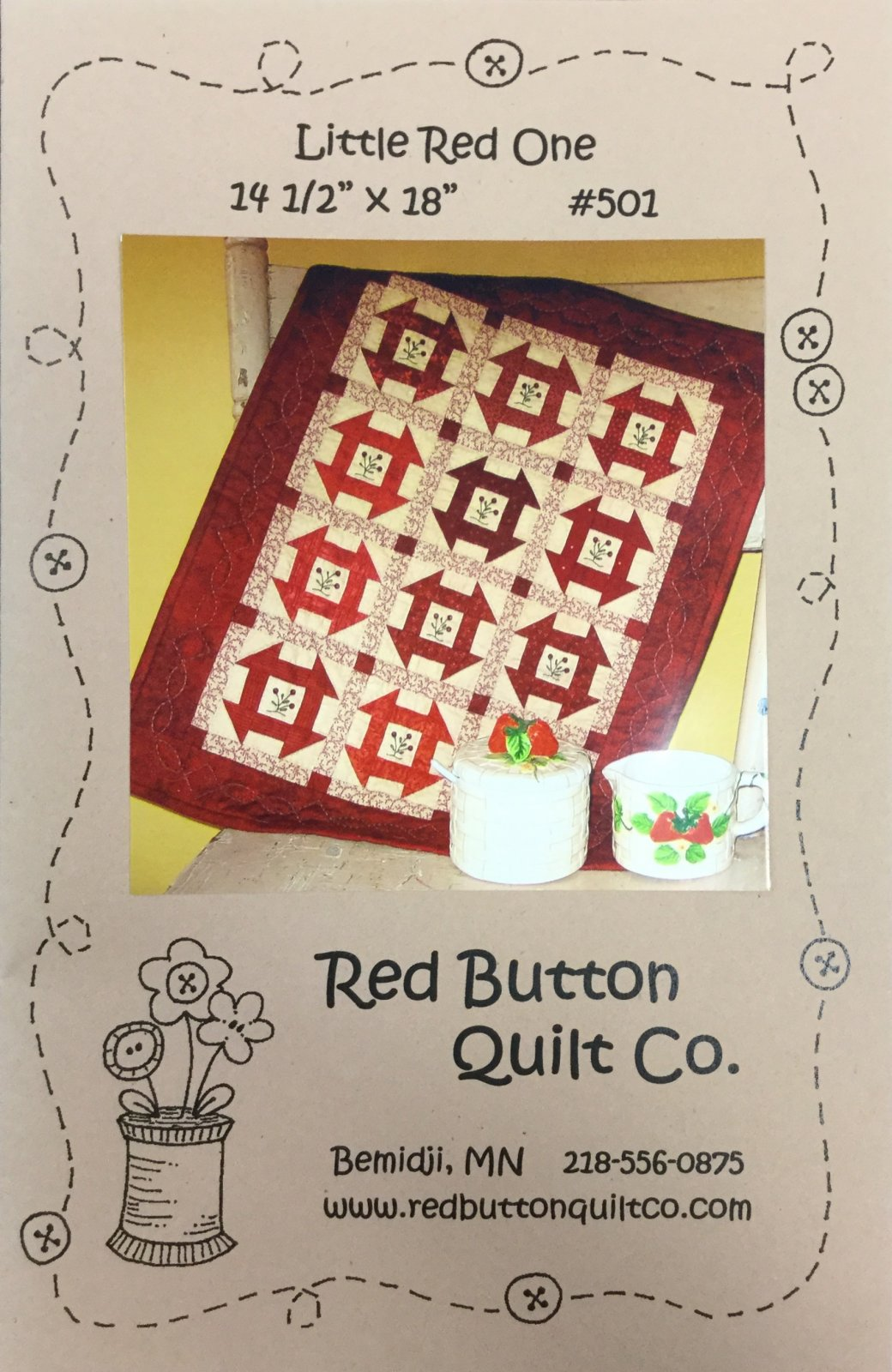Little Red One quilt Kit
