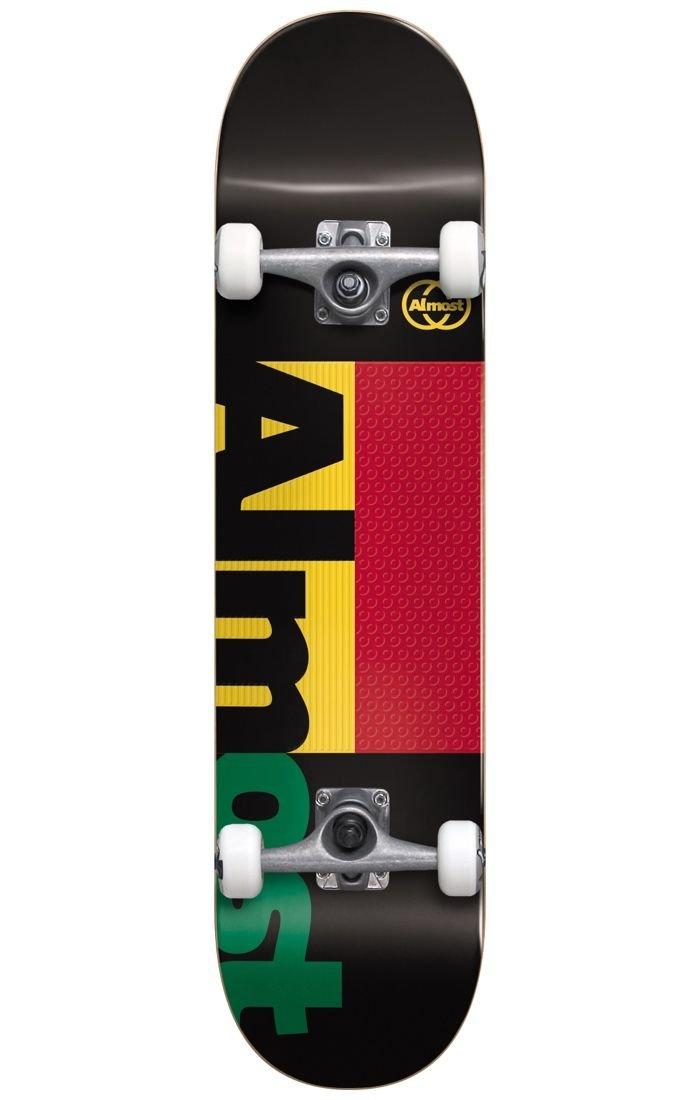 Almost Ivy League Premium Black 7.375 x 29.75 Skateboard Complete