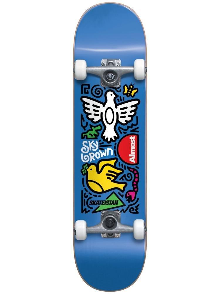 Almost Skateistan Sky Doodle First Push Blue 7.5 Complete Skateboard