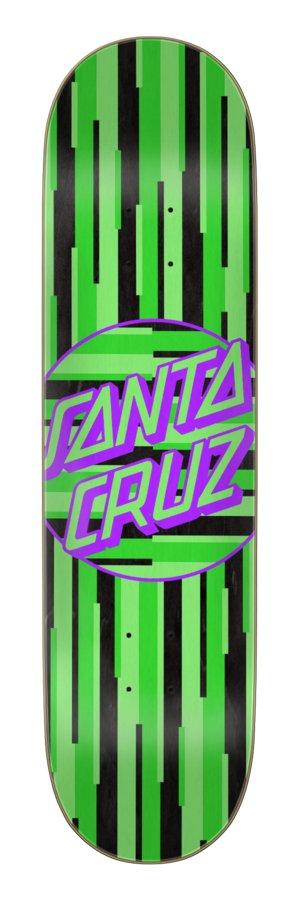 Santa Cruz Strip Stripe Dot Team 8.125 x 31.7in Skateboard Deck