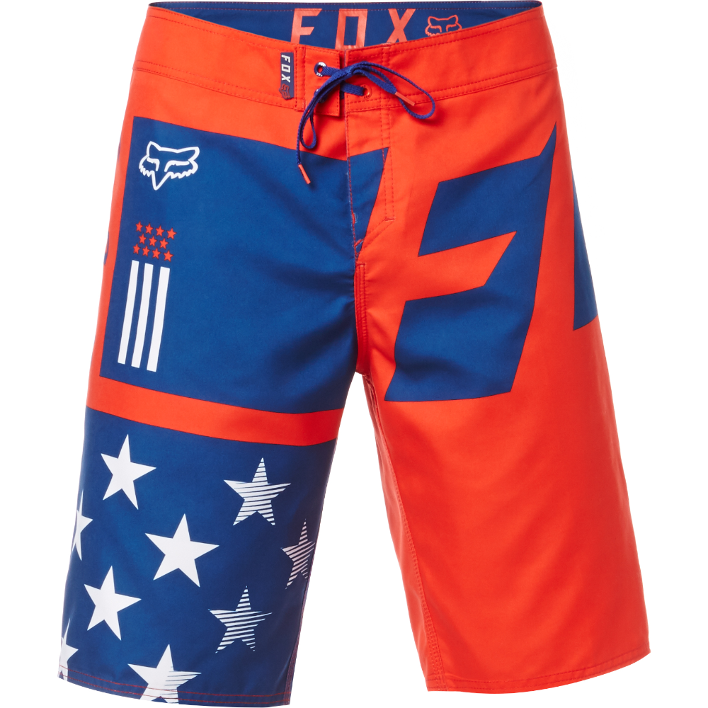 FOX RED, WHITE, AND TRUE BOARDSHORT