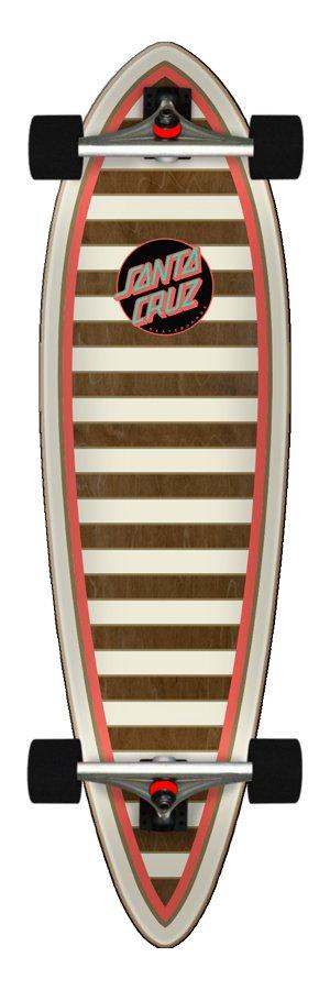 Santa Cruz Gold Stripe 9.2in x 33in Cruzer Pintail
