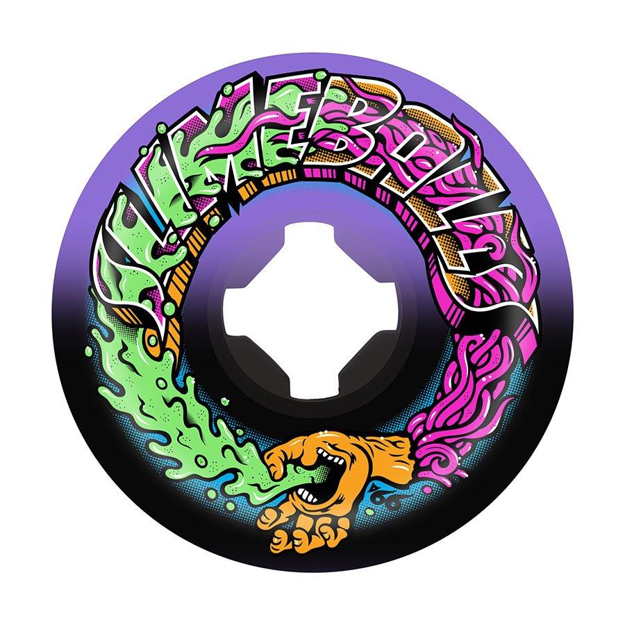 Slime Balls Greetings Speed Balls Purple Black 53mm 99a Skateboard Wheels