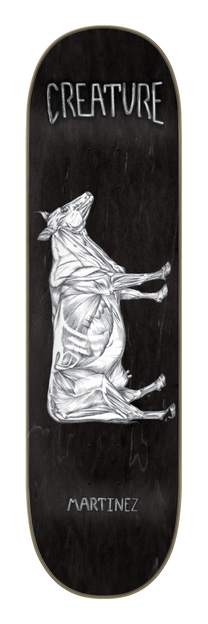 Creature Martinez La Vaca Argentina 8.6 x 32.11 Skateboard Deck