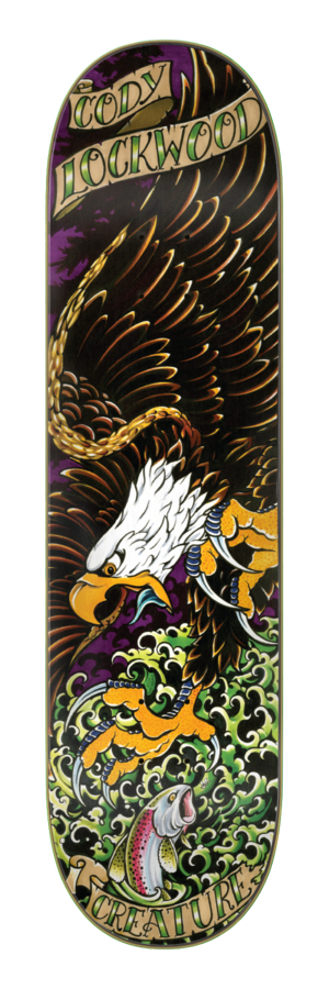 Creature Lockwood Beast of Prey 8.25 x 32 Skateboard Deck