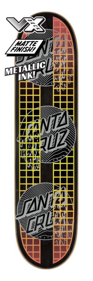 Santa Cruz Transcend Dots VX 7.75 x 31.6 Skateboard Deck