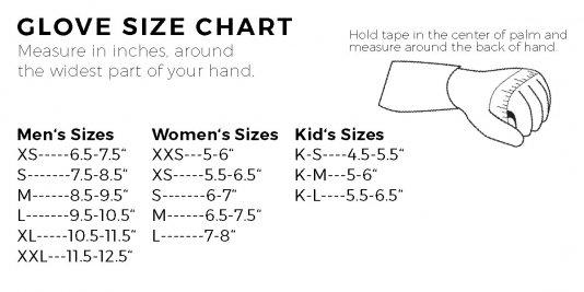 Pinewskis Radar Glove sizing Chart
